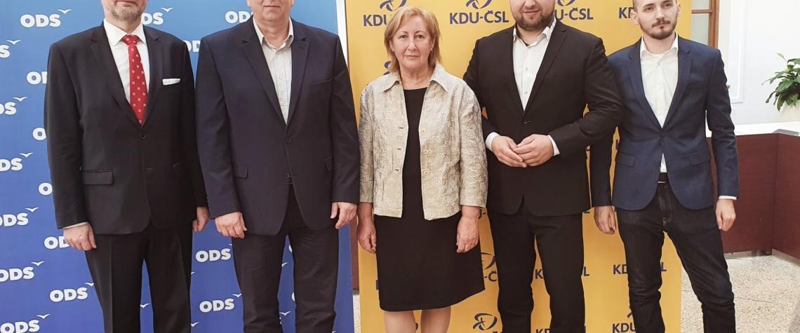 ODS KDUCSL Soukromnici koalice K5 Karlovarsky kraj hejtman