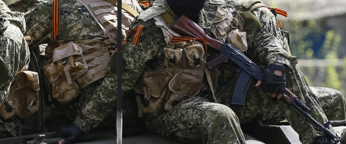Ukrajina Dombas valka rusky separatista