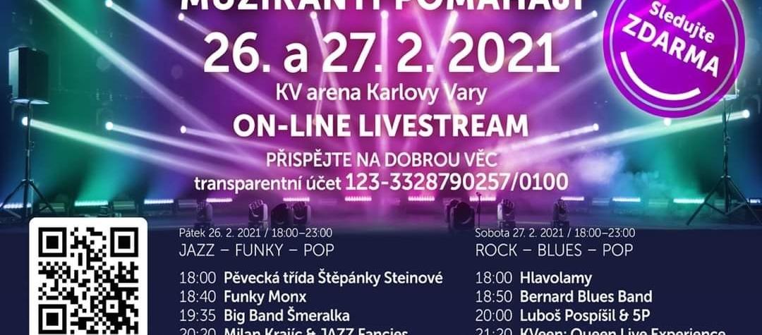 Město Karlovy Vary vás zve na on-line koncerty z KV ARENY