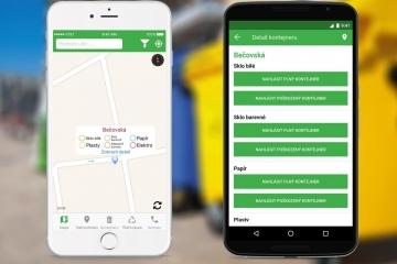 Třídění odpadu v mobilní aplikaci. V Karlových Varech samozřejmost