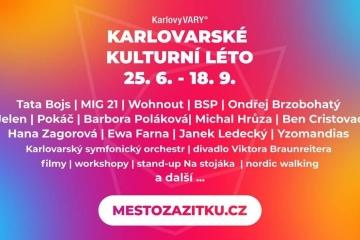 Karlovarské kulturní léto odstartujeme 21. června