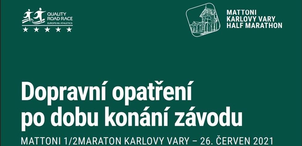 Karlovy Vary - Dopravní omezení v souvislosti s půlmaratonem