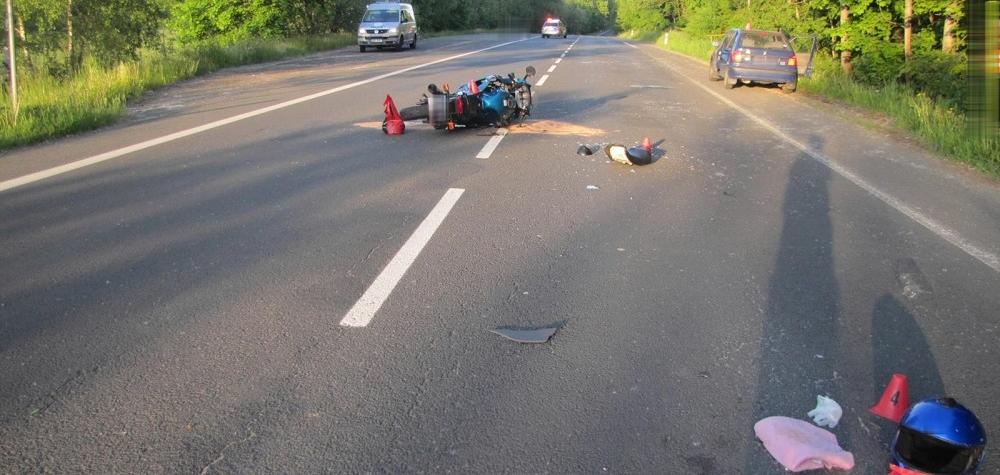 Dopravní nehoda u Podhoří na Chebsku.