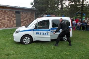 Prázdninové odpoledne s Městskou policií Cheb a hasiči