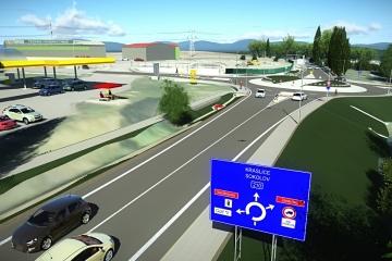 Na výstavbu nové okružní křižovatky u čerpací stanice ONO a přilehlé průmyslové zóny nyní navazuje další stavba