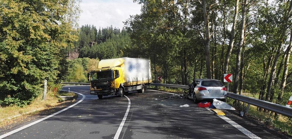 U Kozlova došlo k vážné dopravní nehodě
